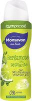 Monsavon Au Lait Déodorant Femme Spray Antibactérien Bergamote très pétillante au Talc Spray - Product - fr