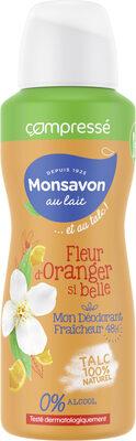 Monsavon Au Lait Déodorant Femme Fleur d'Oranger si belle au Talc Spray - Product - fr