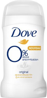 Dove Déodorant Femme Stick Antibactérien Original 0% - Product - fr