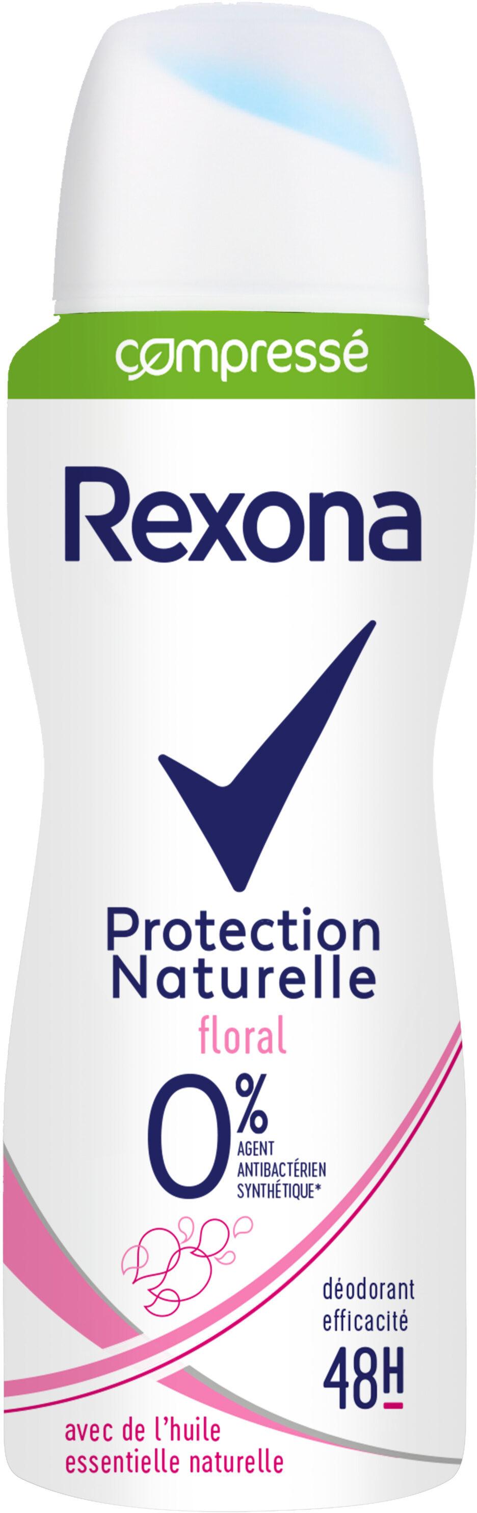 REXONA Déodorant Femme Spray Antibactérien Protection Naturelle Floral 48H - Product - fr