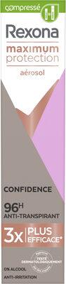 REXONA Déodorant Aérosol Compressé Femme Anti-Transpirant Maximum Protection 96H Confidence - Product - fr