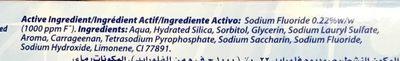 Advanced White - Ingredients - fr