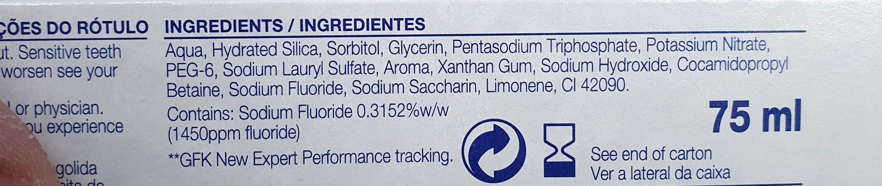 sensodyne - Ingredients - en