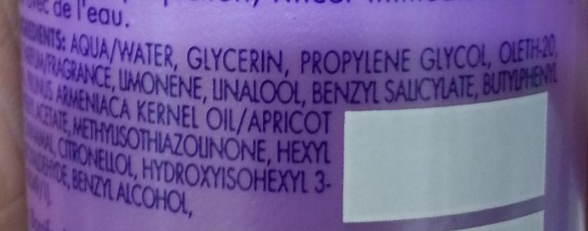 Braids conditioning spray - Ingredients