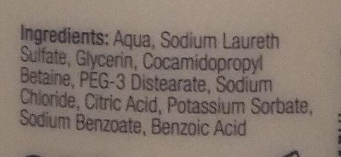Suihkusaippua - Ingredients