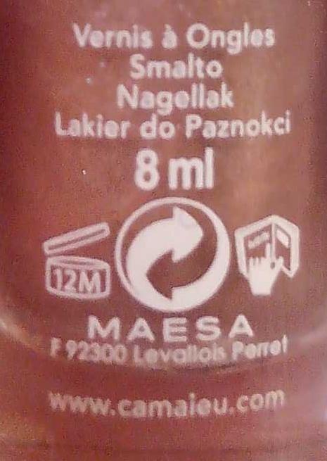 Vernis à ongles - Ingredients