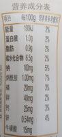 营养快线 红枣枸杞 - Ingredients - zh