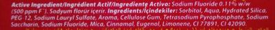Colgate Bubble Fruit 2-5 ans - Ingredients