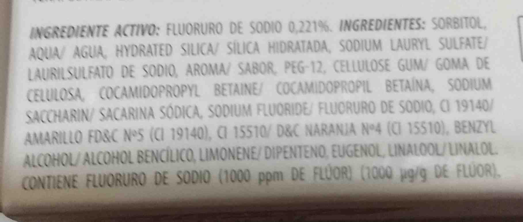 colgate natural extracts - Ingredients - en