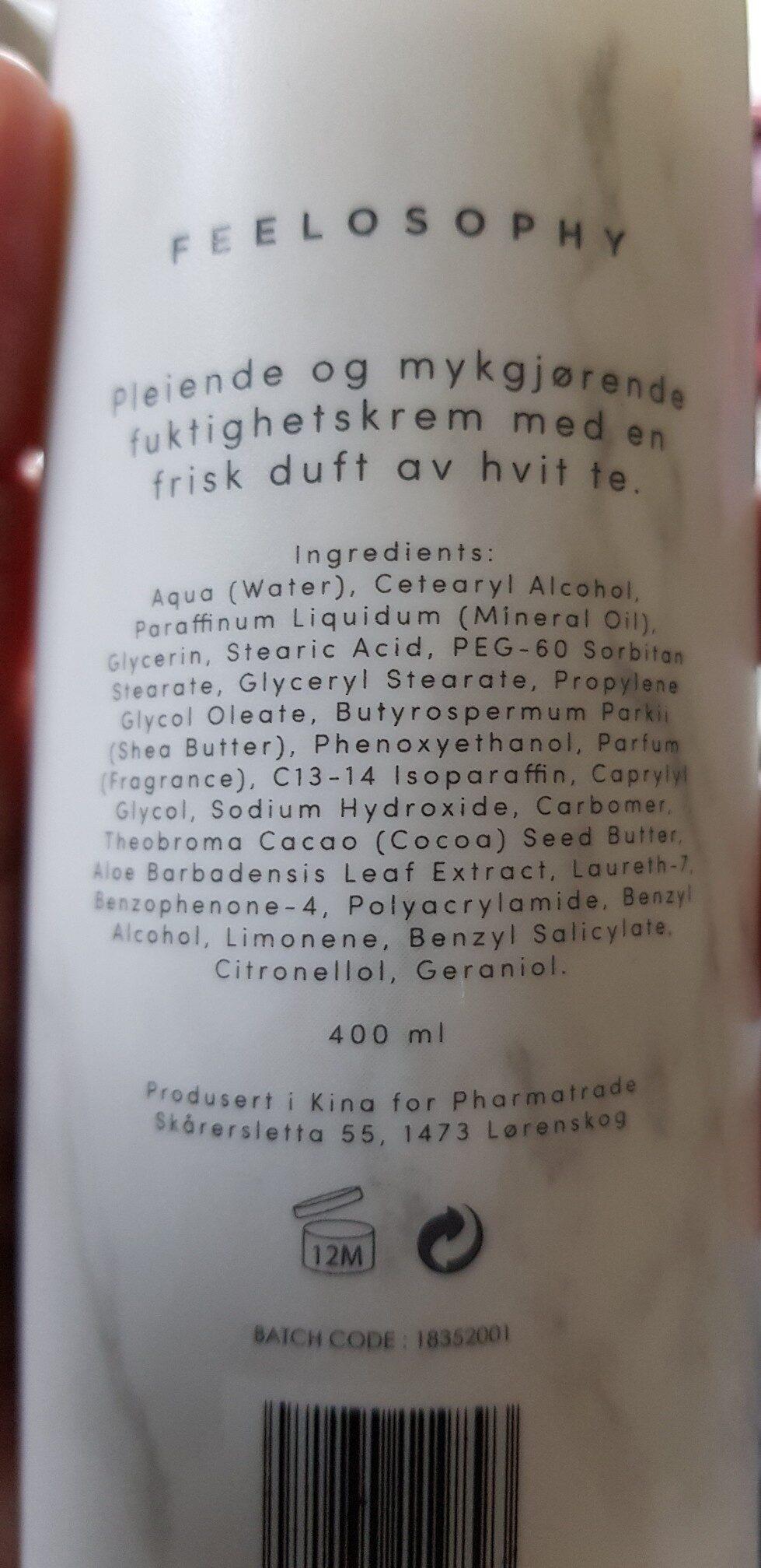 feelosophy - Ingrédients - en