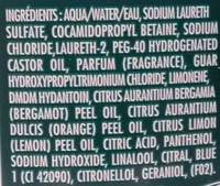 Shampooing force protection, l'original bleu - Ingredients