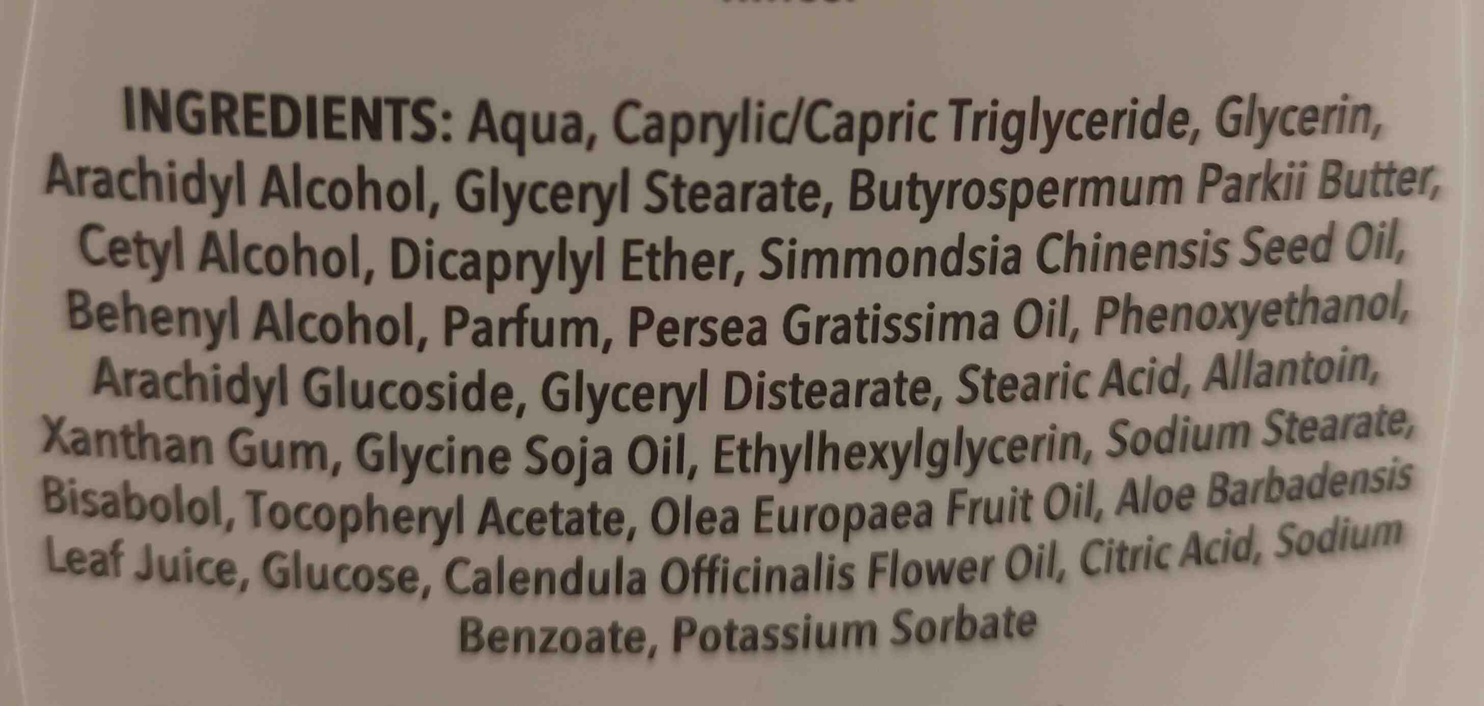 Locion hidratante - Ingredients - en