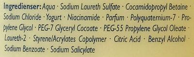 Barnängen Yoghurt Honung & Vanilj - Ingredients