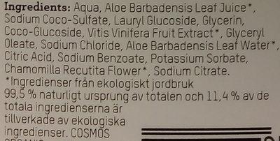 ICA Ekologiskt certifierad handtvål - Ingredients - en
