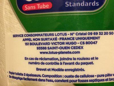 Papier toilette Moltonel - Ingredients - fr