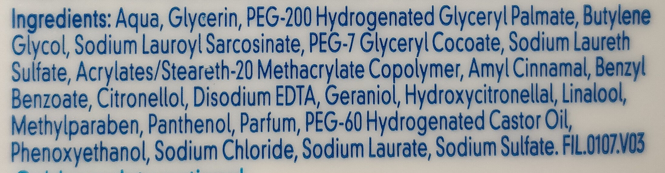 Cetaphil Facial Cleanser - Ingredients - fr
