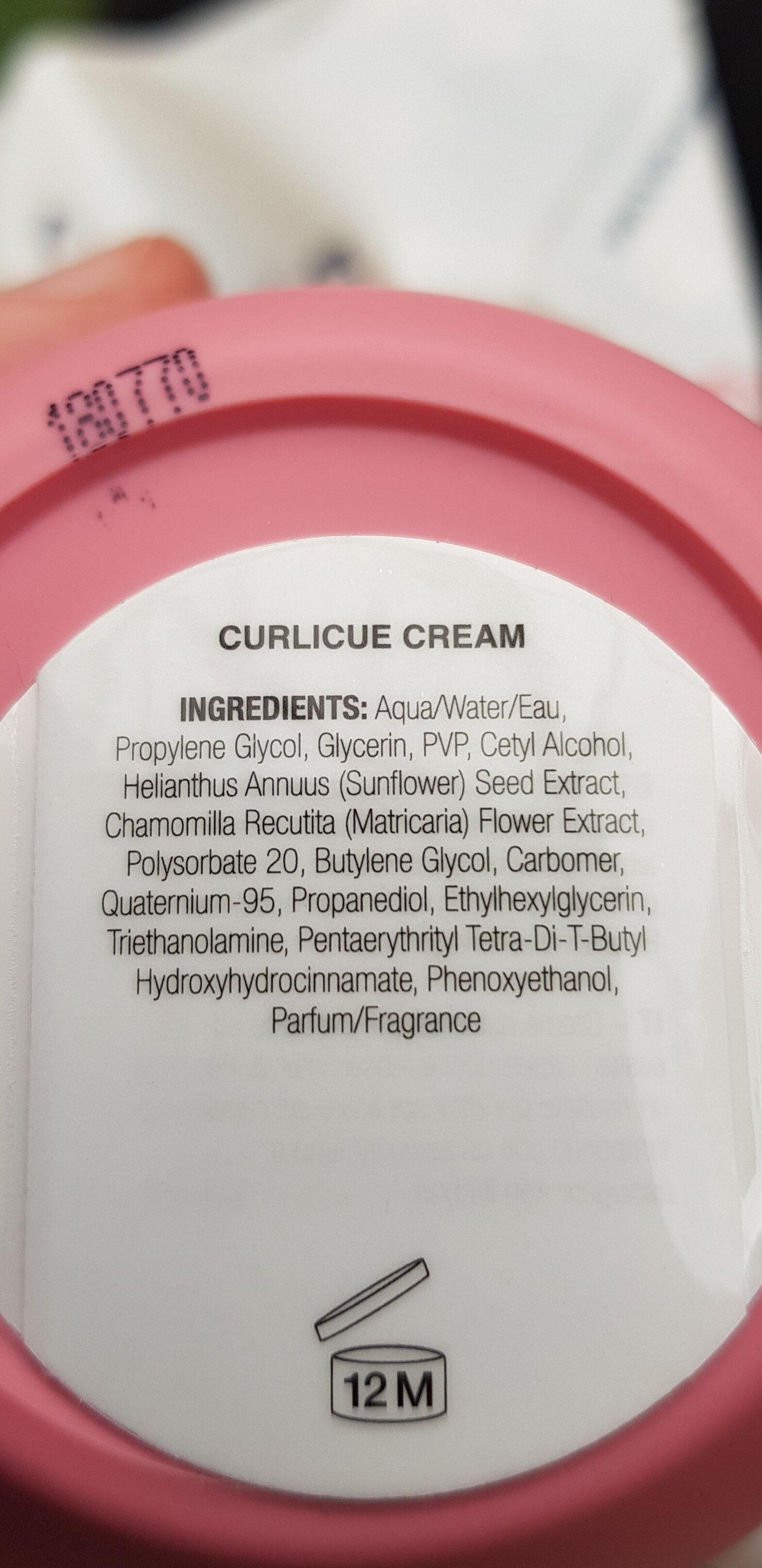 Curlicue cream - Ingrédients - en