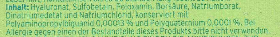 Bio true All-in-one Lösung - Ingredients - de