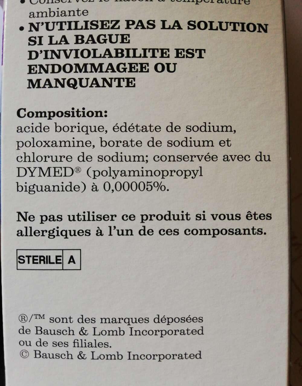 ReNu formule classique - Ingrédients - fr