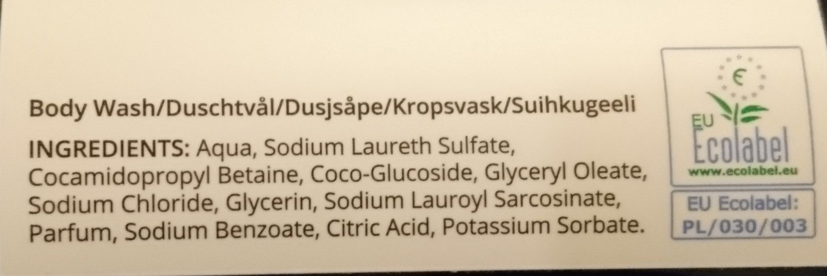 Coconut Milk Body Wash - Ingredients - sv