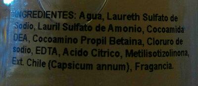 shampoo de chile Medina - Ingredients