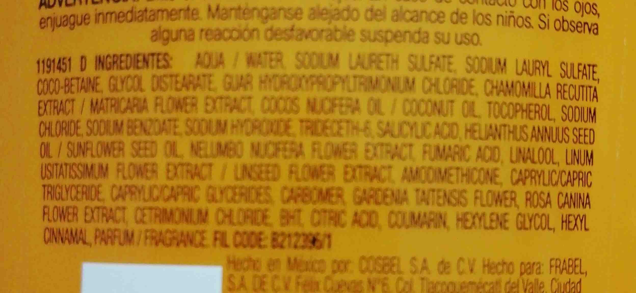 Elvive oleo extraordinario shampoo - Ingredients - en