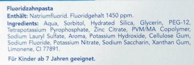 Fluoridzahnpasta - Ingredients