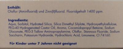 Meridol Zahnpasta - Ingredients - de
