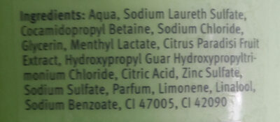 Fresh Care shampoo - Ingredients
