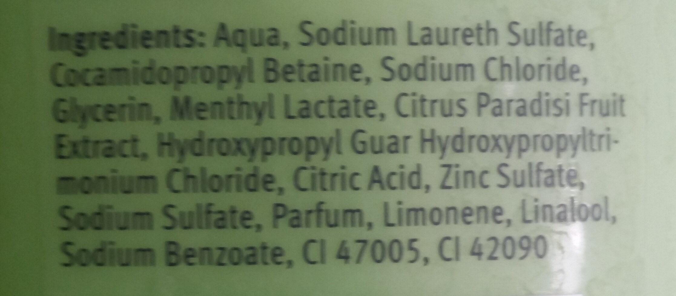 Fresh Care shampoo - Ingredients - fr