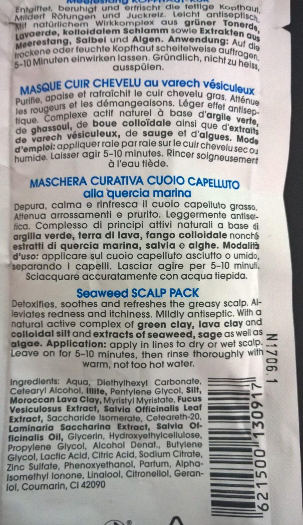 RAUSCH Meerestang Kopfhaut-Kur - Ingredients