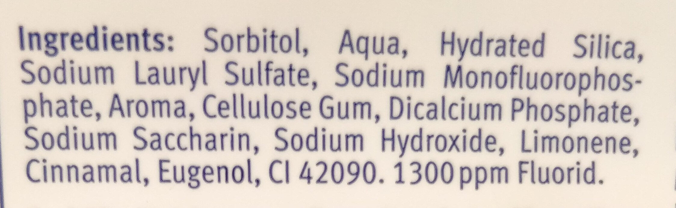 Fresh gel - Ingrédients - fr