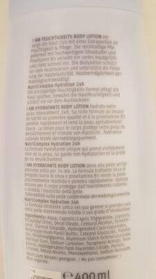 Body lotion hydratante - Ingrédients - fr