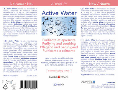 Active Water - Ingredients - fr