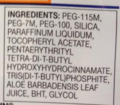 Fusion Proglide - Ingredients