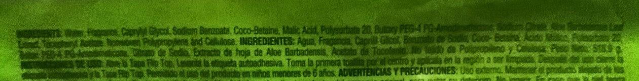 Toallas Húmedas - Ingredients - es