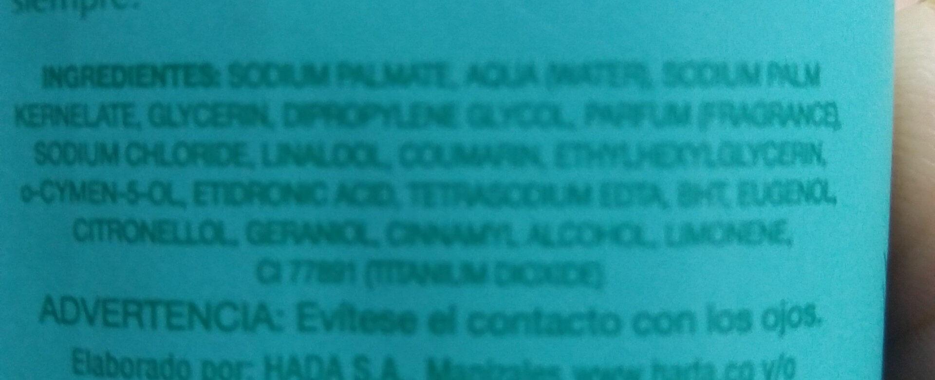 Jabón Natural Antibacteriano - Ingredients - es