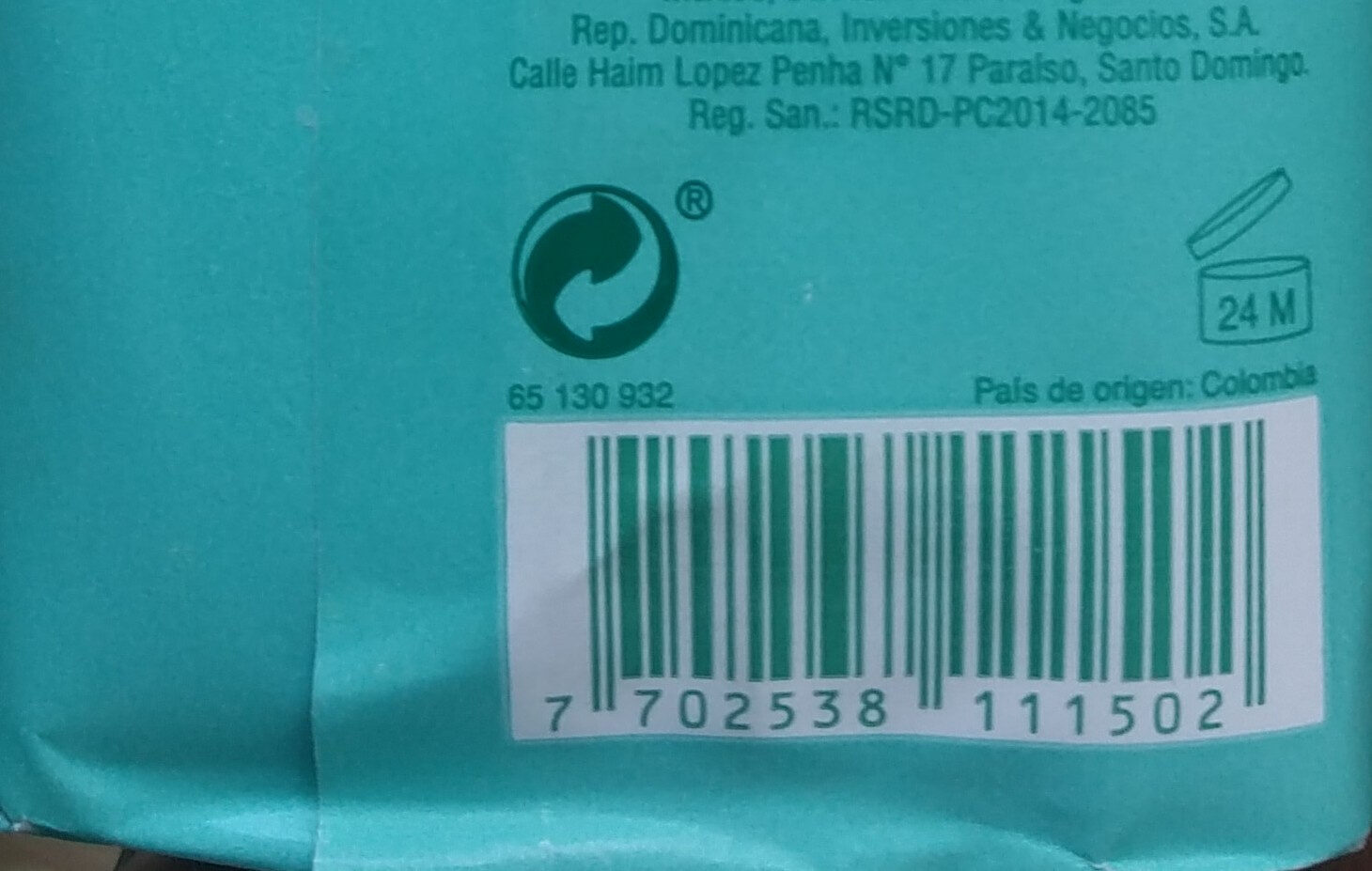 Jabón Natural Antibacteriano - Recycling instructions and/or packaging information - es