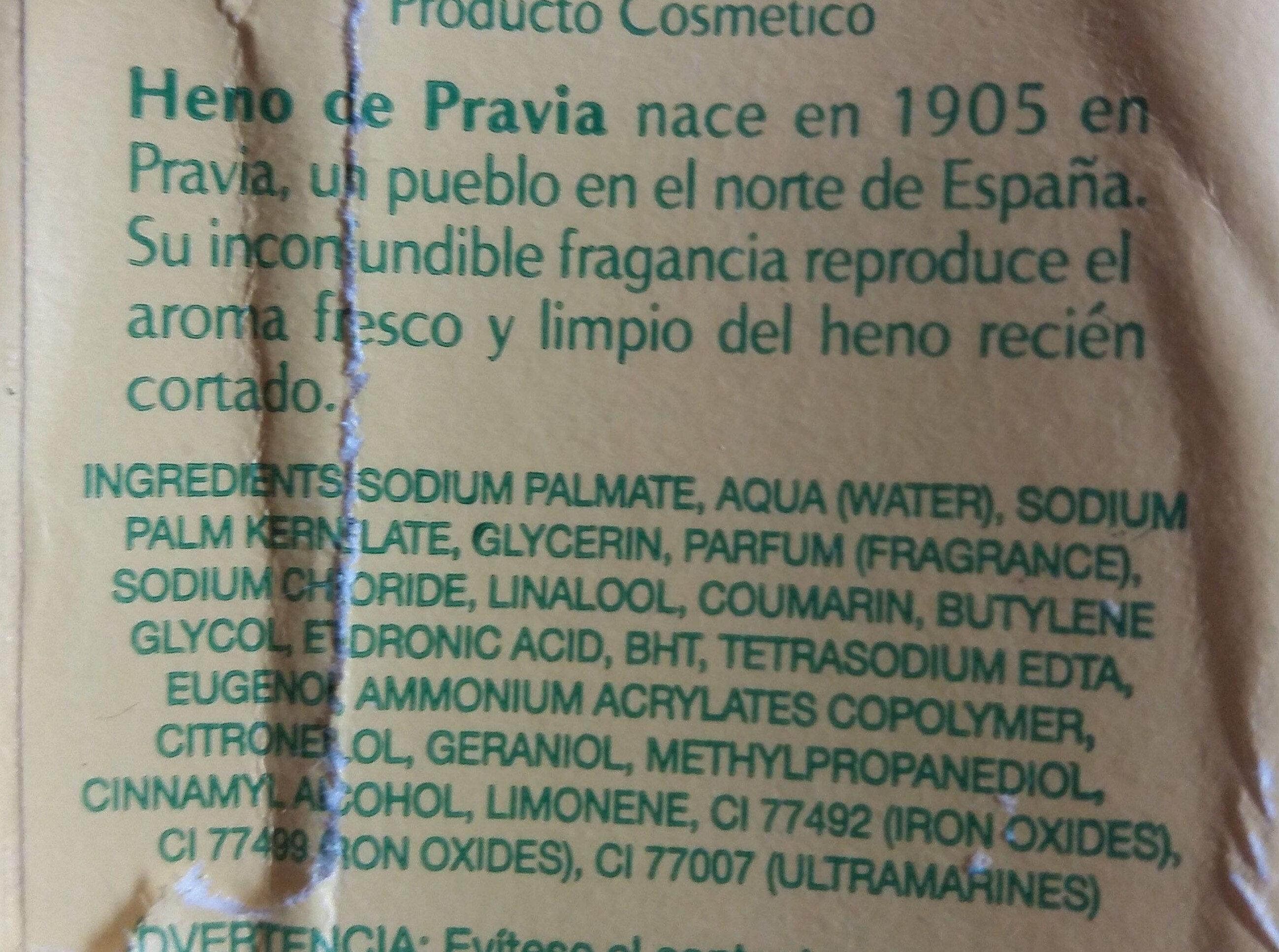 Jabón Natural - Ingredients - en