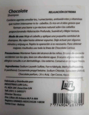 Clarissa shampoo - Ingredients - en