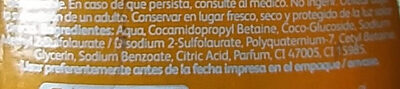 Baby Shampoo - Ingredients - es