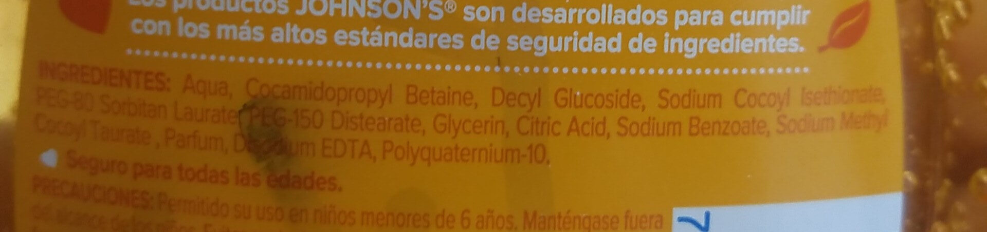 Baby Shampoo - Ingredients - es