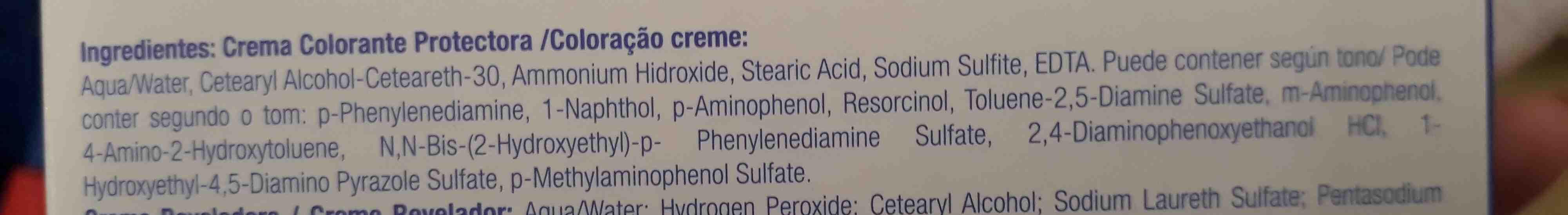 Tintura negro azulado 919 - Ingredients - en