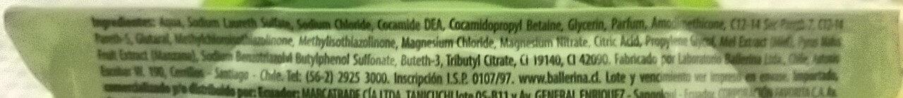 Jabón Líquido - Ingredients - es