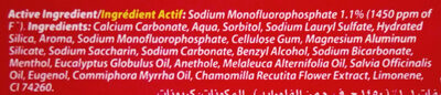 Colgate Herbal - Ingredients
