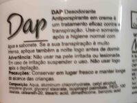 Dap desodorante - Ingredients - en