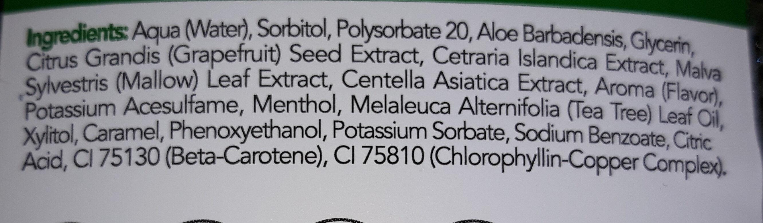 Aloe Collutorio Tripla Azione - Ingredients
