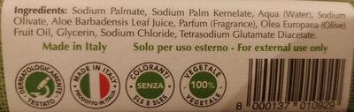 Aloe, detersione naturale - sapone 100% vegetale - Ingredients - it