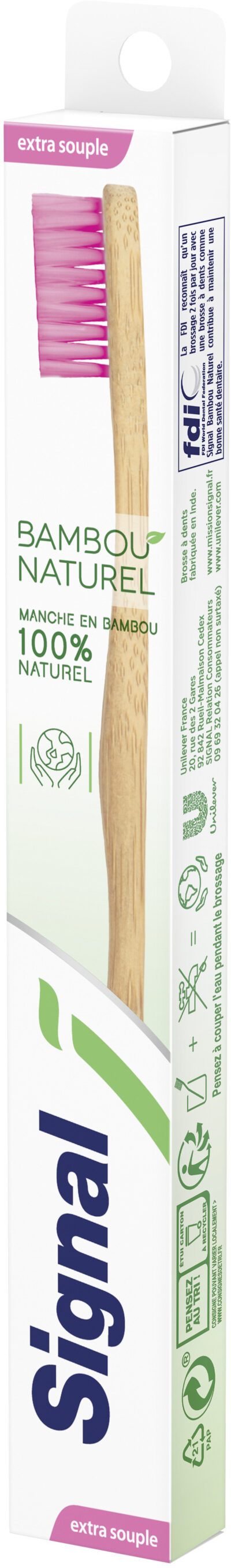 Signal Brosse à Dents Bambou Naturel Extra Souple x1 - Product - fr