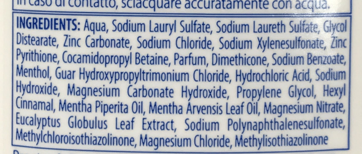 Milde Pflege Bei Juckender Kopfhaut - Ingredients - fr